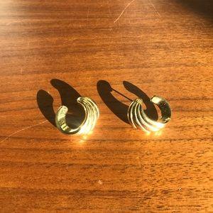 Goldtone Spiral Earrings